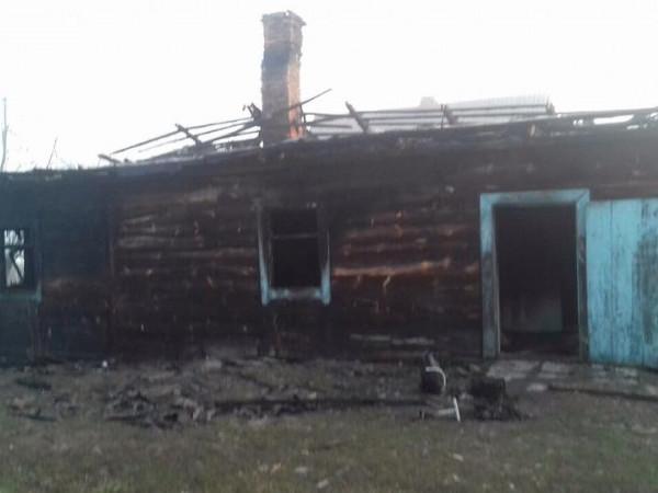 у селіРудка-Червинська згорів будинок