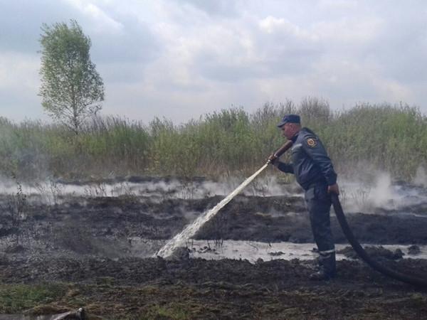 Камінь-Каширщина: пожежу на торфовищі частково загасили