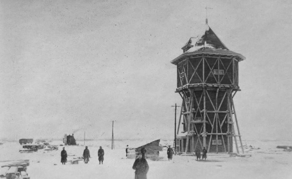Водонапріна вежа на залізничній станції Каменя-Каширського