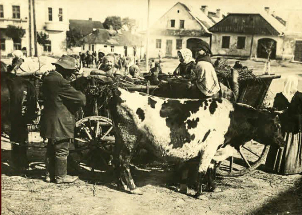 Волинська сім'я приїхала на ярмарок до містечка