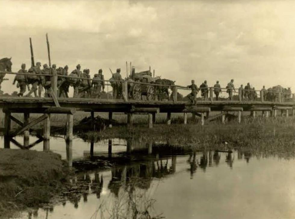 Міст через річку Стир, десь на Волині.