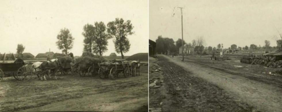 Дорога в селі Луків (тепер територія Турійського району Волинської області)