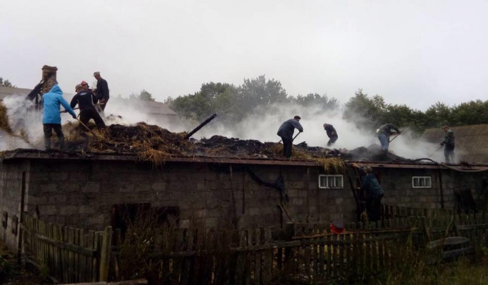 Пожежа у селі Котуш