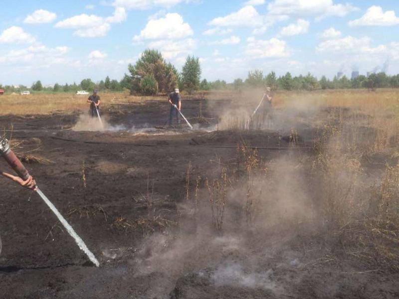 На Камінь-Каширщині горіла суха трава