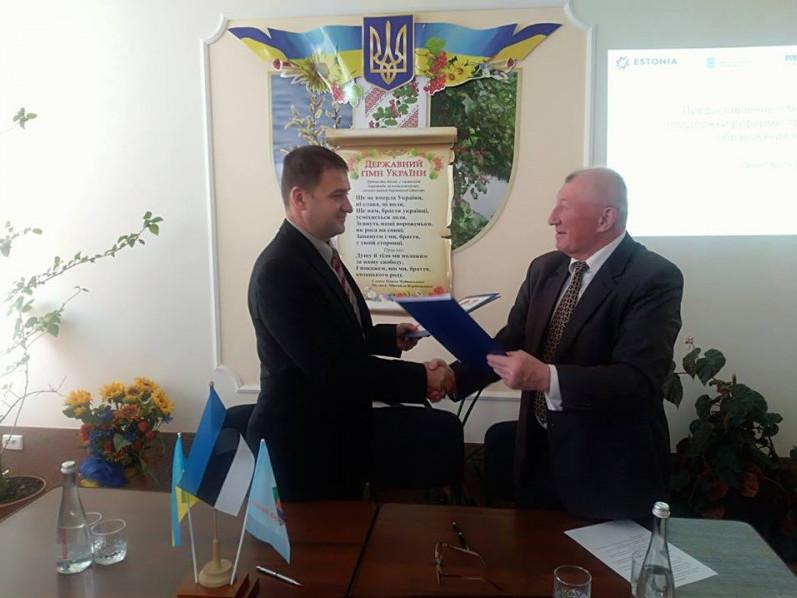 Камінь-Каширське ВПУ підписало договір про міжнародну співпрацю з Естонією