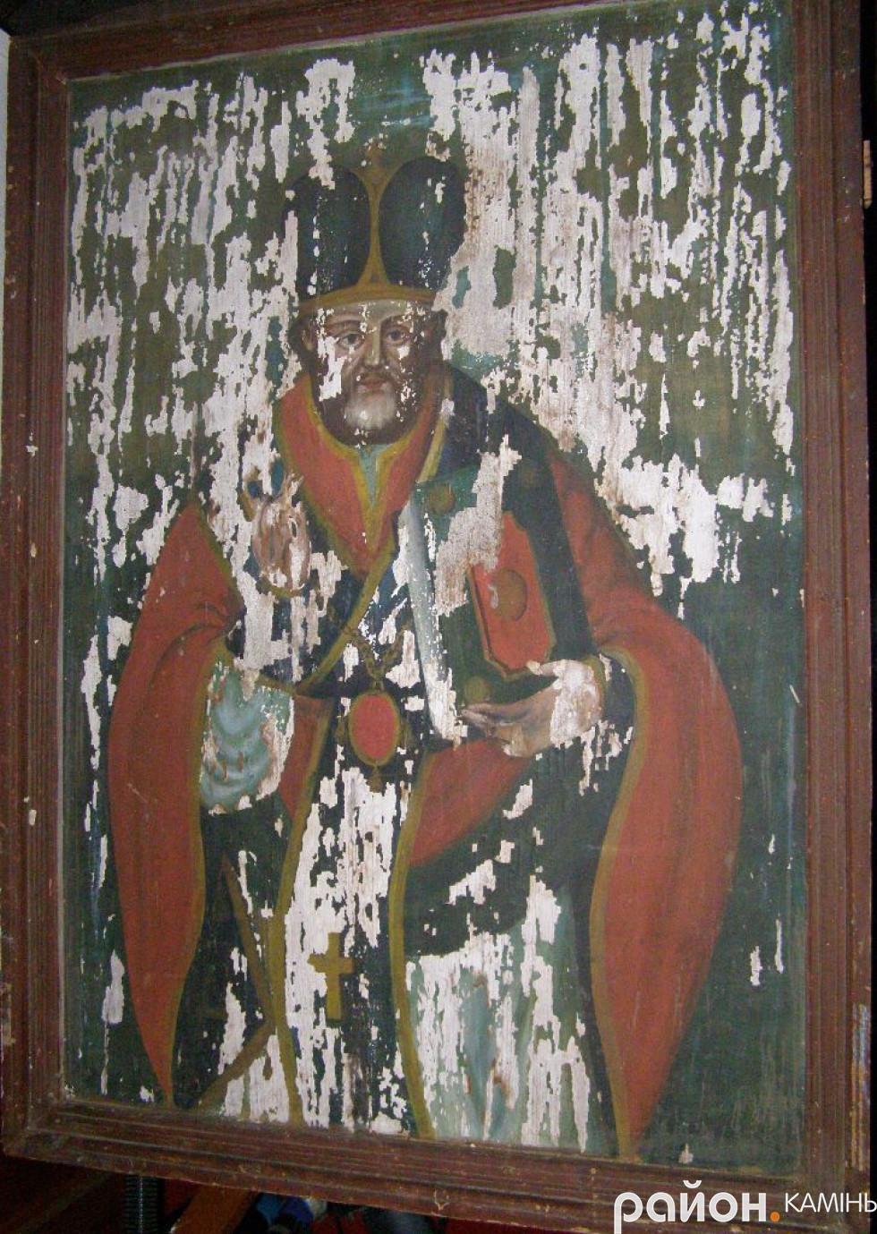 Св. Миколай, ХІХ ст., церква Успіння Богородиці, с. Запруддя Камінь-Каширського району