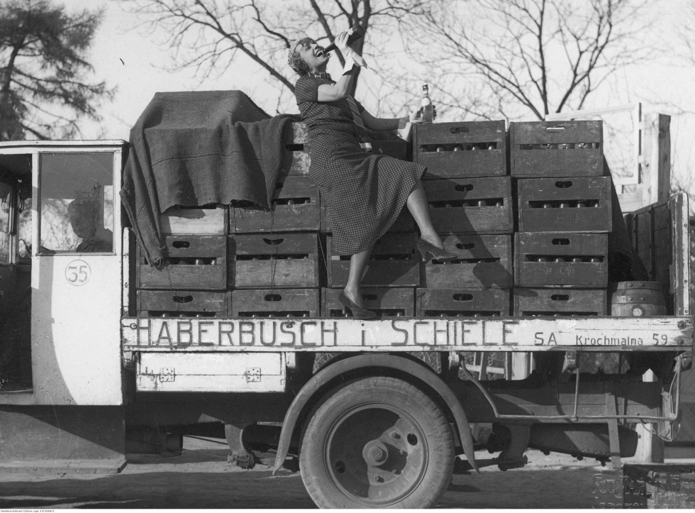 Реклама пива «Габербуш і Шіле», 1933 р.