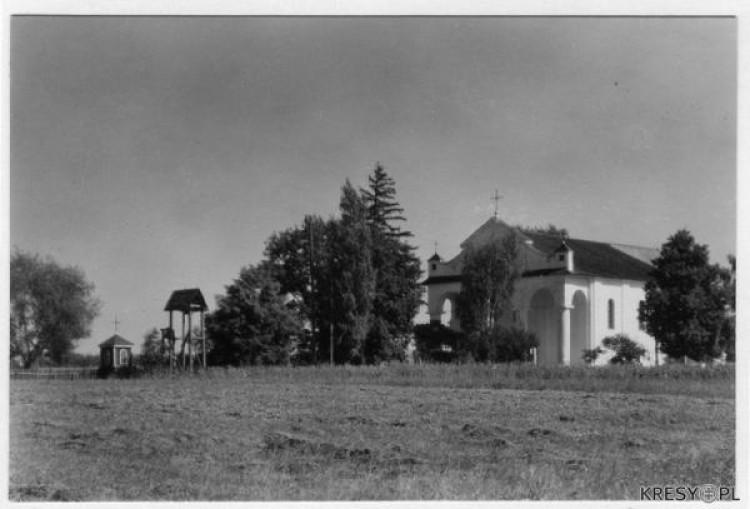 Вид на костел. м. Камінь-каширський. 30-і роки ХХ століття.