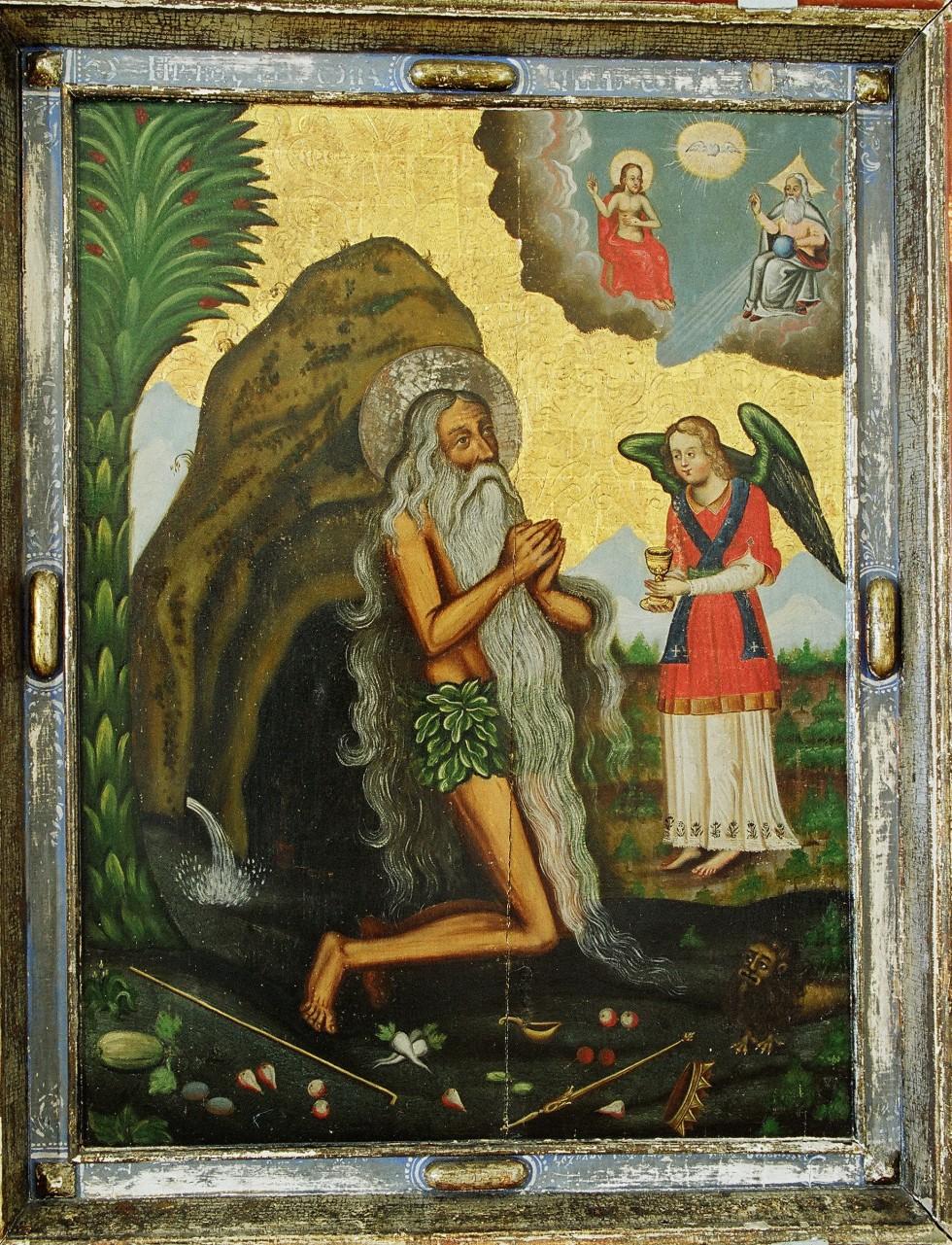 Причащання св. Онуфрія. 1717 р., Майстер із Михнівки. Зберігається в Музеї волинської ікони в Луцьку