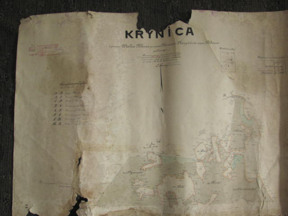 Карта північної частини маєтку Криниця. 1928 р.