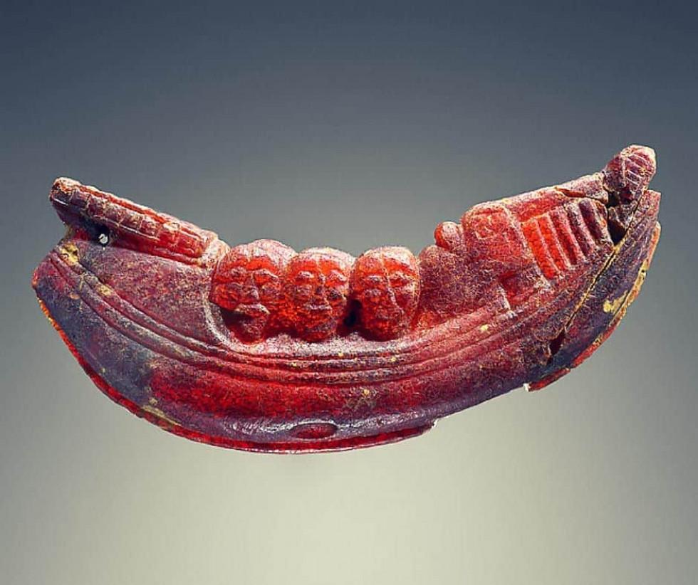 Корабель з фігурами. Етруски 600-575 рр. до н.е., музей Пола Ґетті, Лос-Анджелес, США