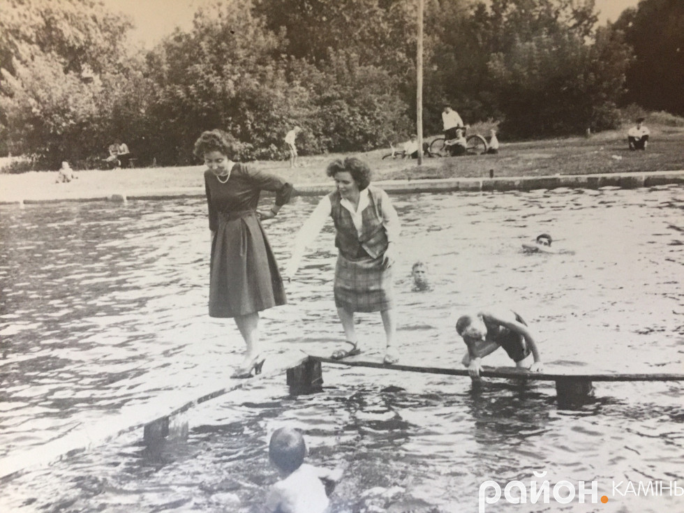 Басейн у Камені-Каширському. Фото 60-70-х років. Фото надала Ольга Календа.